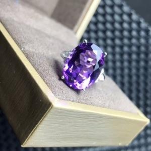 Image 5 - Anel de ametista natural, 7 carat gemas, simples e requintado, prata esterlina 925, artesanato e prático