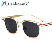 2017 New Fashion Sunglasses For Women Brand Designer Metal Flag Mirror Vintage Retro Sun Glasses Hipster