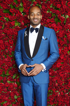 Latest Coat Pant Designs Royal Blue Slim Fit Skinny 2 Piece Men Wedding Suits Tuxedo Custom Groom Blazer Vestido jacket+Pant