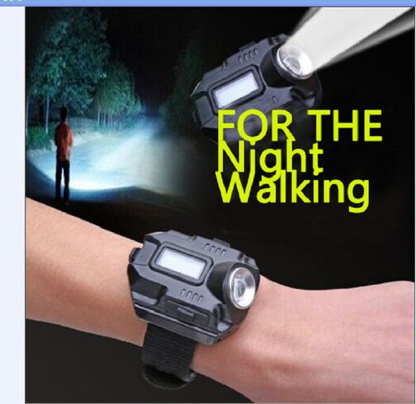 New portable xpe q5 r2 led wrist watch flashlight torch light usb charging wrist model tactical
