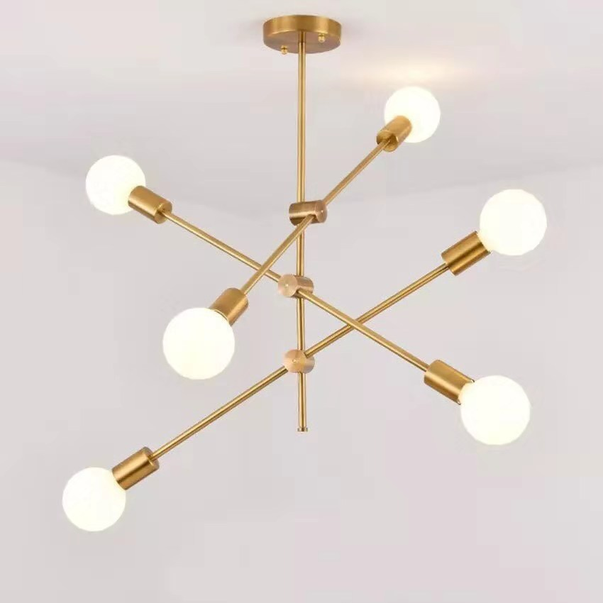 Nordic living room lamps post-modern minimalist pendant lights personality creative bedroom dining room sputnik tube lamp