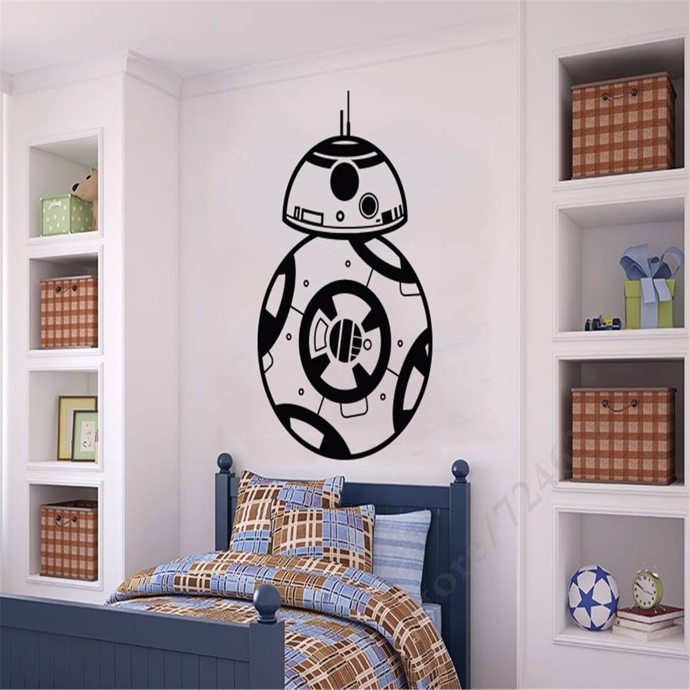 nursery wall murals promotion shop for promotional nursery wall creative designed star wars famous android wall stickers home nursery kids bedroom special decorative quality wall murals
