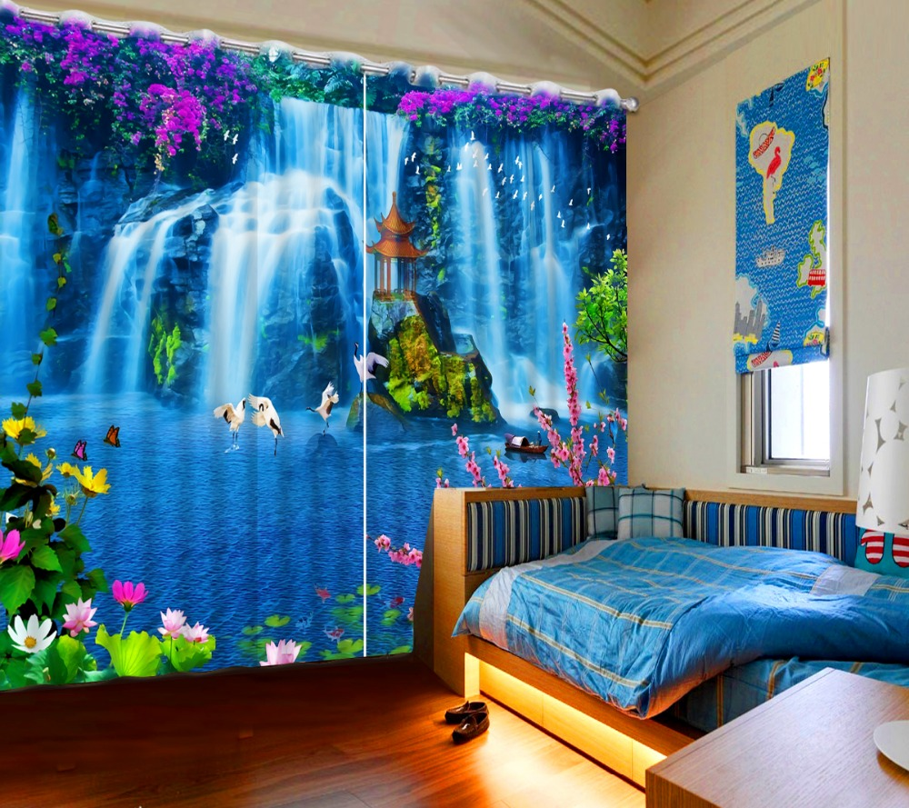NoEnName_Null 3D Curtain Blue Dream Holy Land Printed Full Thicken Blackout Shade Window Curtains for Living Room CL-DLM717NoEnName_Null 3D Curtain Blue Dream Holy Land Printed Full Thicken Blackout Shade Window Curtains for Living Room CL-DLM717