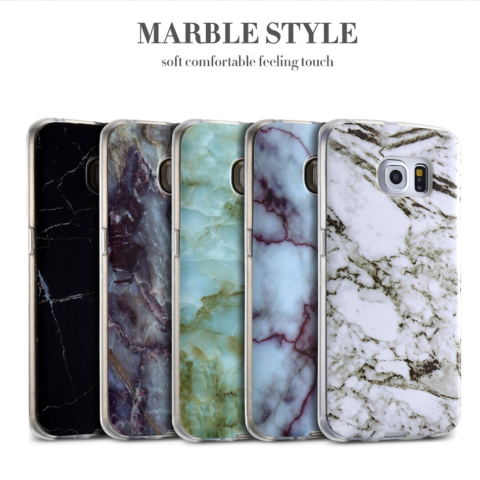 Marble Skin Case For Samsung Galaxy S8 Plus S7 S6 Edge S4 Soft Silicon Phone Cases (3)