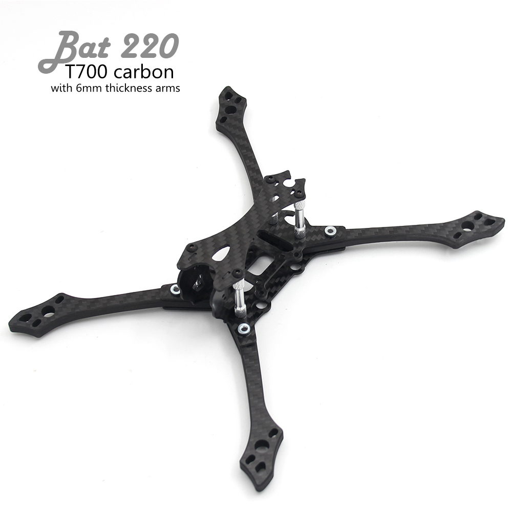 Bat 220 220mm 5inch 6mm Thickness Milling Arms T700 Carbon RC FPV Frame With 4mm Arm High Drone For Quadcopter MCK Hybrid