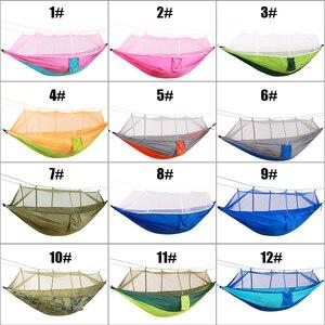 Image 5 - Portátil de pouco peso parachute toldo acampamento redes mosquiteiras para caminhadas ao ar livre mochila viagem estilo 12 toldo