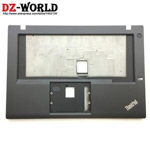 New Original for Lenovo ThinkPad T450 Keyboard Bezel Palmrest Cover UMA without Touchpad with Fingerprint Hole 00HN549