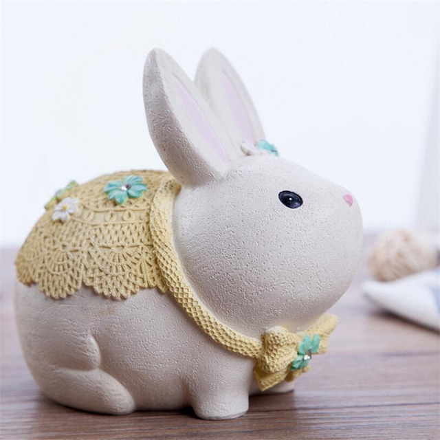 tirelire lapin blanc bébé2