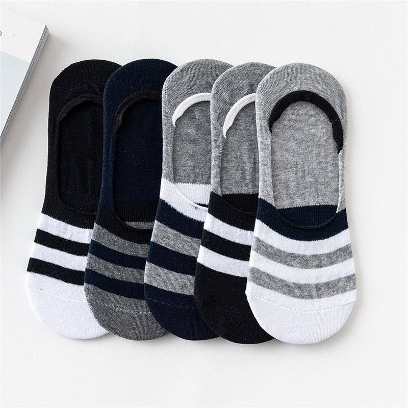 Men's Ankle Socks  2018 Casual Solid Mutil Colored Men's socks Colorful Short Socks Invisible Socks Men For 5 Pairs/lot