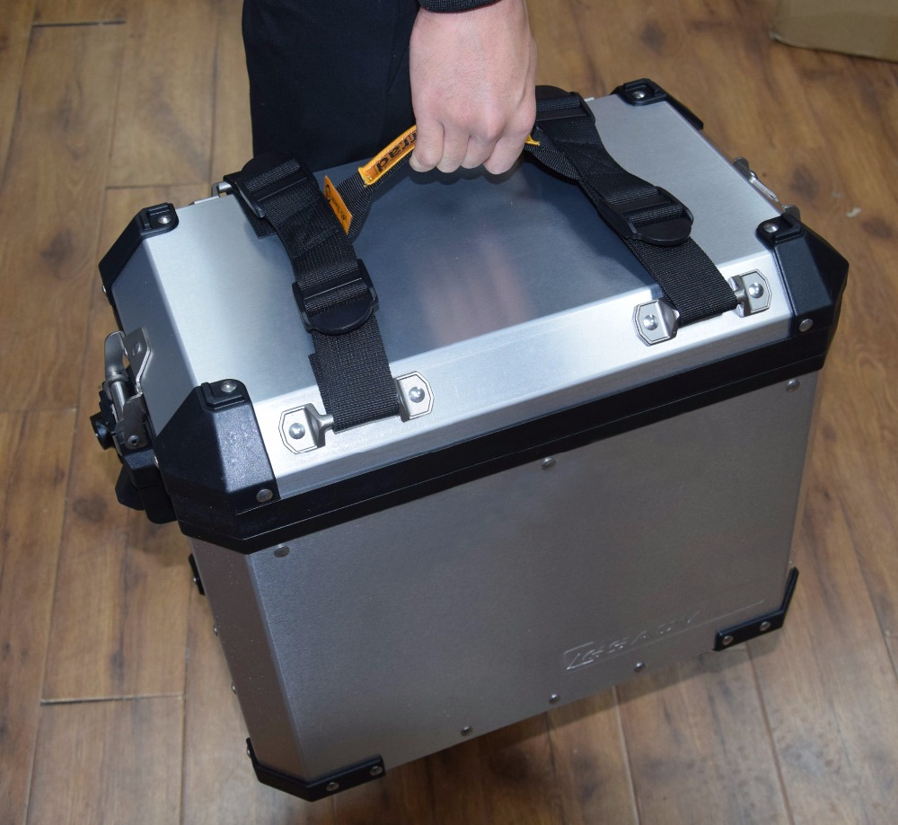 Punho lateral para a caixa lateral da liga de alumínio para bmw r1200gs lc adv f700gs f800gs adv universal