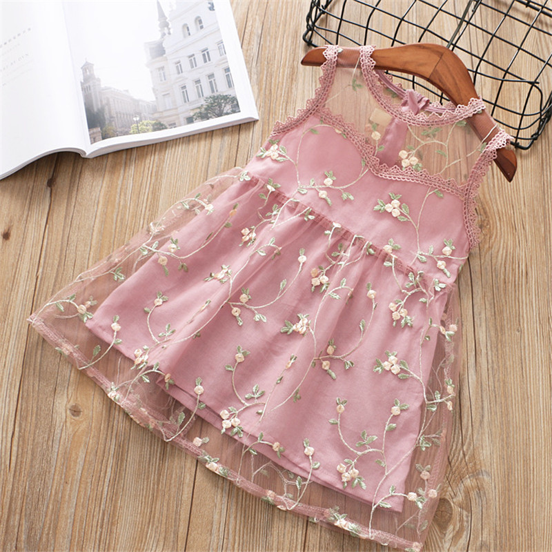 2018 summer girl dress new casual lace flower Voile sleeveless kid children girls clothing beach dress girl princess dress ems dhl free shipping toddler little girl s 2017 princess ruffles layers sleeveless lace dress summer style suspender