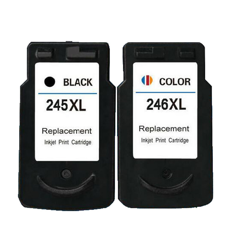 CANON PG-245 PG245 Black Ink Cartridge With chip for CANON PIXMA iP2820 iP2850 MG2450 MG2520 MG2920 Printers Remanufacture 1 Set