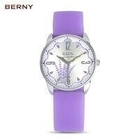 Brand BERNY Children S Watches Kids Quartz Watch Student Girls Silicone Flowers Digital Quartz Watch Colorful