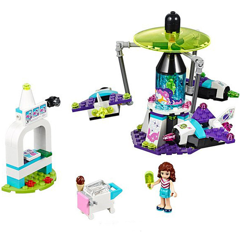 Lepin Olivia Amusement Park Space Ride 01006 Girls Building Blocks Sets Gift Toys Compatible Friends 41128 lepin 22001 pirate ship imperial warships model building block briks toys gift 1717pcs compatible legoed 10210