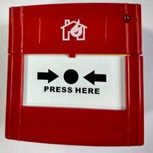 5 шт./лот CJ-SB106 2 Провода пожарной сигнализации и пуговицы обычные Ручной извещатель легко нажмите в аварийном состоянии сбросить ключ