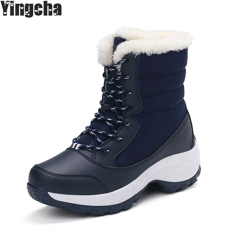 Big Size Winter Women Snow Boots Fashion Winter Women Shoes Autumn Female Boots Mid-calf Platform Boots 2018 Woman Shoes new hot sale shoes women snow boots flat shoes fashion matte slip on mid calf autumn winter boots female height increasing shoes
