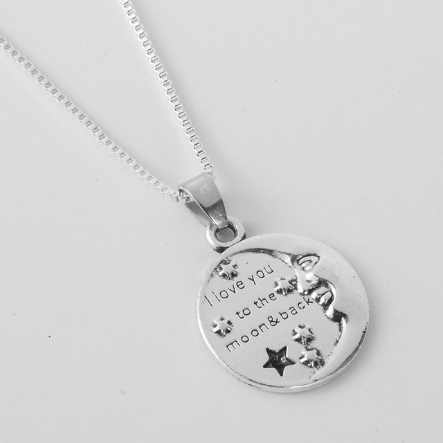 12pcslot i love you to the moon and back pendant necklace 12pcslot i love you to the moon and back pendant mozeypictures Choice Image