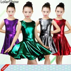 Ребенок малыш дети Профессиональный Латинской платье для танцев для девочек Бальные Танцы