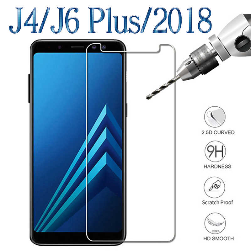 J6 Plus Tempered Glass For Samsung J 4 6 J4 J6 Plus 2018 Protective Covers On Galaxy J6Plus J4Plus 6J 4J Screen Protector Glas