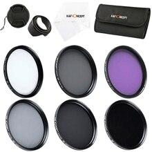 K&F Concept Uv Cpl Fld Nd2+4+8 Lens Filter Kit For Nikon Canon Sony Dslr
