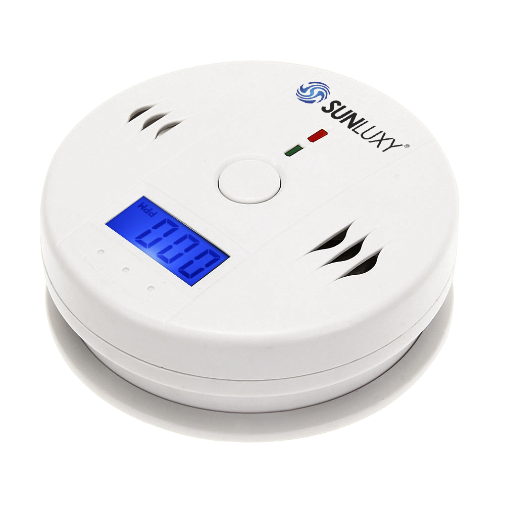 SUNLUXY 4pcs SUNLUXY Wireless CO Carbon Monoxide Sensor Detector 85dB Alarm LCD Display Home Indoor Security Protector System