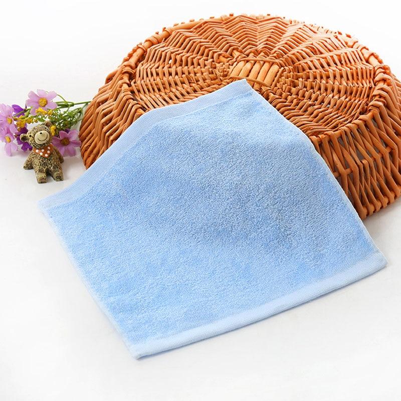 2pcs High Quality Kindergarten Kids Children Solid Color Skin-friendly Handkerchiefs Bamboo Fiber Wash Face Hand Towel FS0587