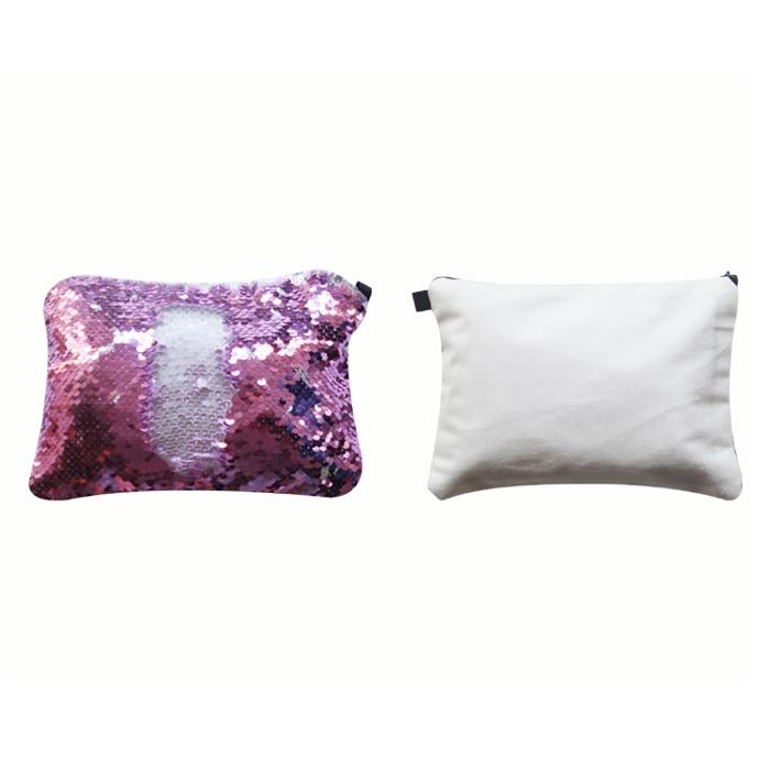 frete gratis 6 pcs lote new style sublimation em branco lantejoulas item magico maquiagem malas para