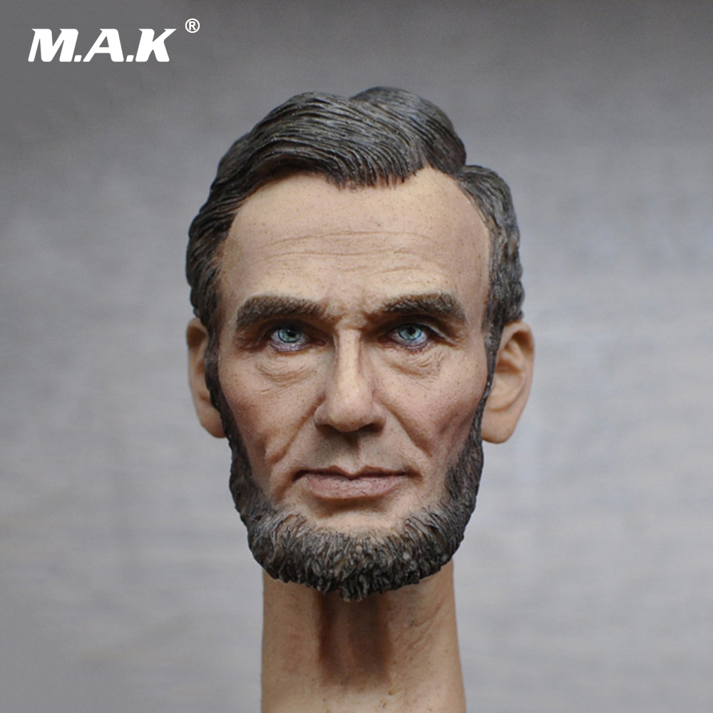 1/6 Scale American President Abraham Lincon Head Sculpt for 12 Inches Male Bodies Dolls Figures Collections Toys Gifts 1 4 scale 18 inches male movable bodies collectable figures for 1 4 mens head sculpt