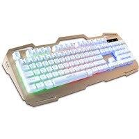 الميكانيكية اليد يشعر مفاتيح 104 مفاتيح 1.35 متر usb السلكية الألعاب الخلفية الملونة تعليق كيكابس معدن عبة لوحة المفاتيح