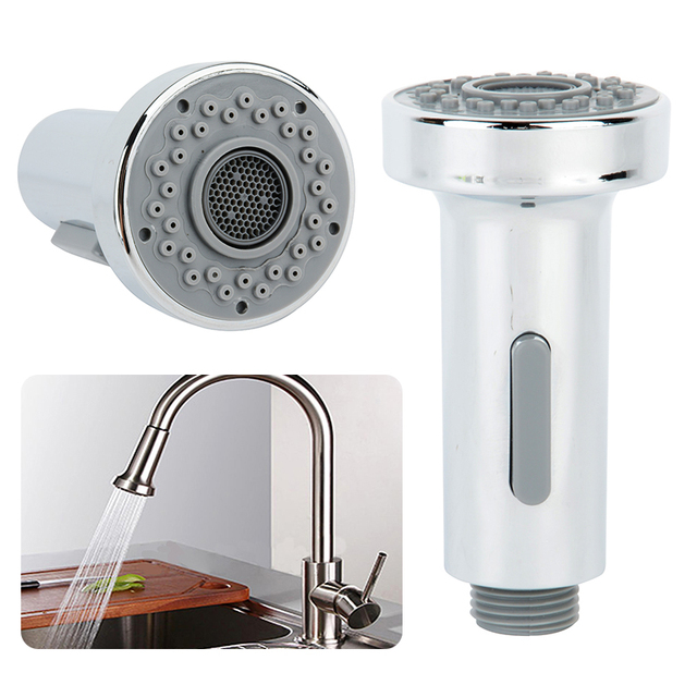Stainless Steel Kitchen Faucet With Pull Down Spray Cabinet Warehouse 1pcs Nickel Sink Shower Head Single Hole Water Tap
