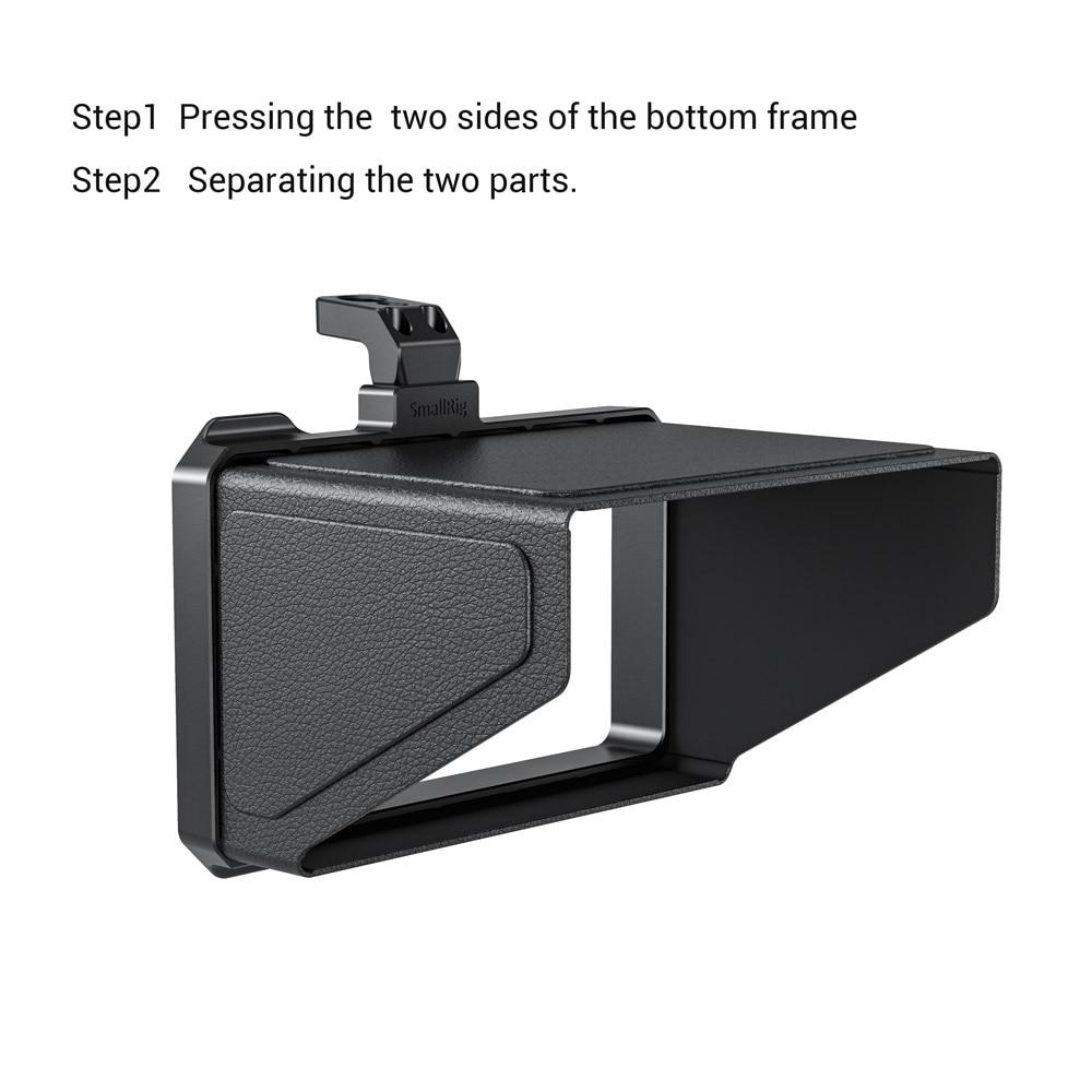 SmallRig para BMPCC 4K 6K Sun Hood para Blackmagic Design bolsillo cámara de cine de vídeo 4K a sol cubierta protectora-2299