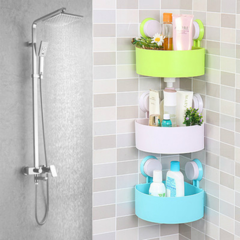 Charmant Triangle Bathroom Storage Rack Super Glue ABS Plastic Wall Absorption Bathroom  Toiletries Bottle Storage Rack 14.5*14.5*7.5cm In Storage Holders U0026 Racks  ...