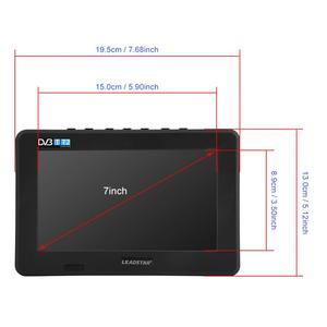 Image 5 - LEADSTAR 7inch DVB T T2 16:9 HD Digital Analog Portable TV Color Television Player for Home Car for UK Plug