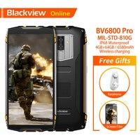 Blackview Original BV6800 Pro 4GB+64GB 5.7 Waterproof Smartphone 18:9 Screen 6580mAh Android 8.0 Wireless Charging Mobile Phone