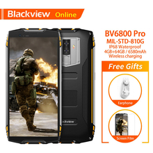 "Blackview Original BV6800 Pro 4GB+64GB 5.7 Waterproof Smartphone 18:9 Screen 6580mAh Android 8.0 Wireless Charging Mobile Phone"""