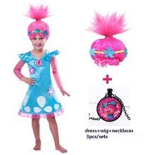 Girls Dresses Trolls Poppy Cosplay Costumes Dress