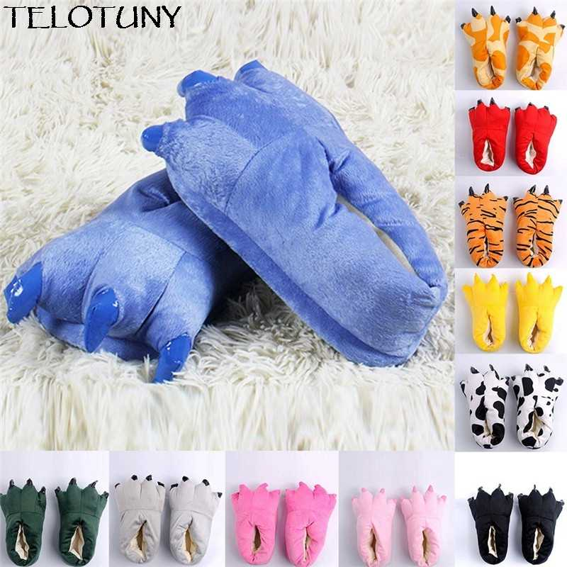 8296133d11373 TELOTUNY 2018 Kid Baby Girls Winter Warm Indoor Slippers Funny Animal Paw  Monster Claw Shoes IU30