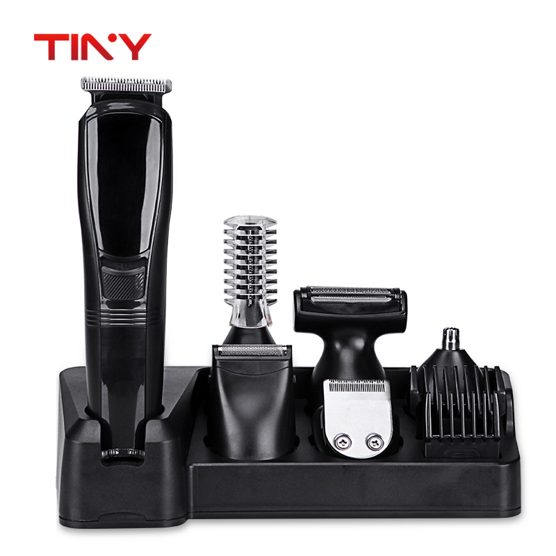 TINY 6 in 1New Cutter Electric Hair Clipper Rechargeable Hair Trimmer Shaver Razor Cordless Adjustable Clipper 220-240v dingling ef607 rechargeable hair clipper trimmer w accessories set black orange ac 220