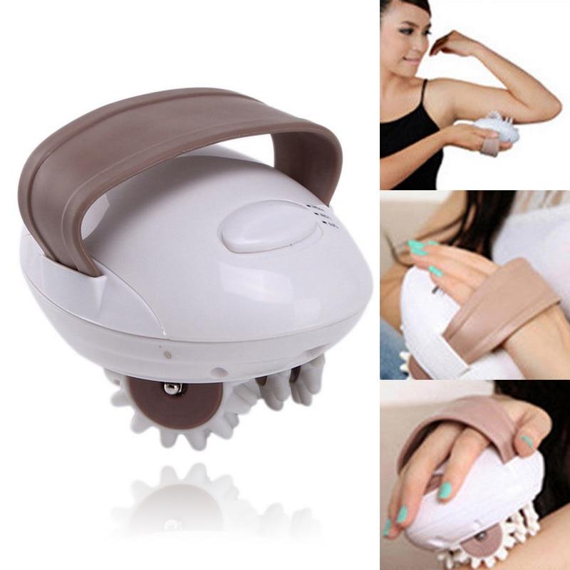12V 1A 3D Electric Body Massager EU/US Plug Electric Roller Type Massager Roller Fat Burning Anti-cellulite Massaging Tool us 3 12
