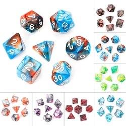 7 teile/satz Acryl Polyhedral Würfel Für TRPG Brettspiel Dungeons And Dragons D4-D20