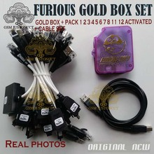 цена на 100%original The unlocking box of Furious gold box with 58pcs cables,Full activated Pack 1-Pack 12+free shipping by dhl