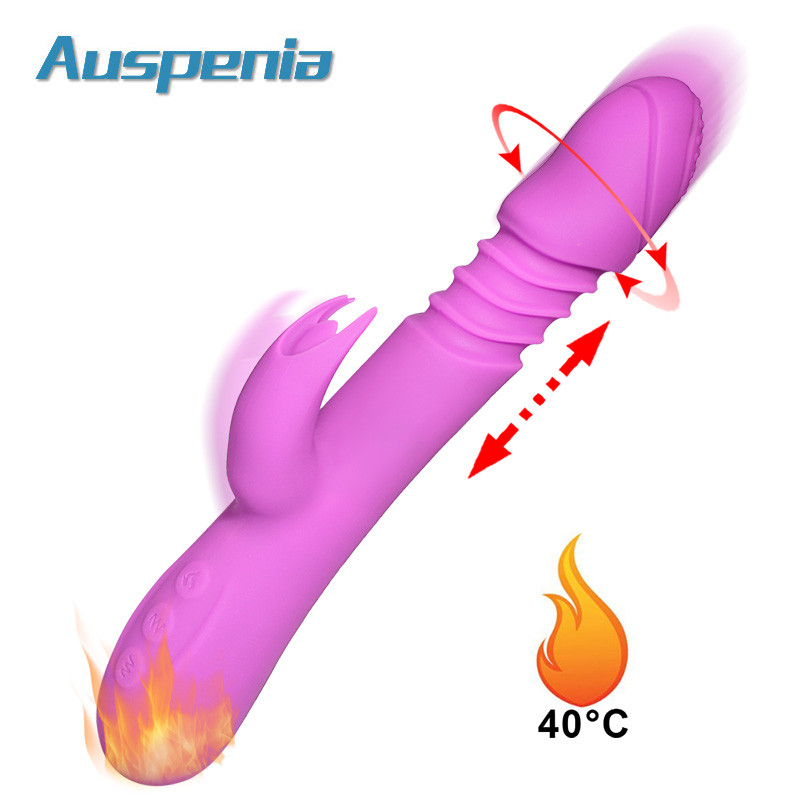 Large Dildo Vibrator WIth Heating Funtion Rotation Penis Up Down Trusting Big Cock Vagina Masturbator For Women Adult Sex Toys