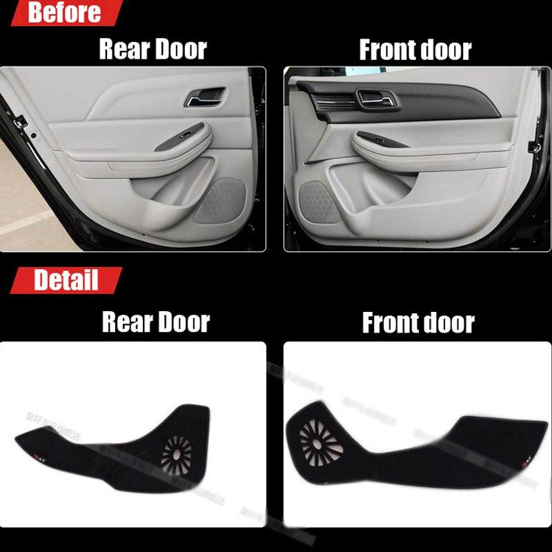 Ipoboo Savanini 4pcs Fabric Door Protection Mats Anti-kick Decorative Pads For Chevrolet Malibu 2012-2014 ipoboo 4pcs fabric door protection mats anti kick decorative pads for hyundai elantra 2012 2015