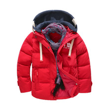 Kids Clothes Children Jackets For Boys Girls Winter White Duck Down Jacket Coats Thick Warm Clothing Kids Hooded Parkas Coat