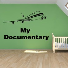 New arrival Free shipping Creative DIY wall art Airbus aircraft stickers kids rooms home decoration