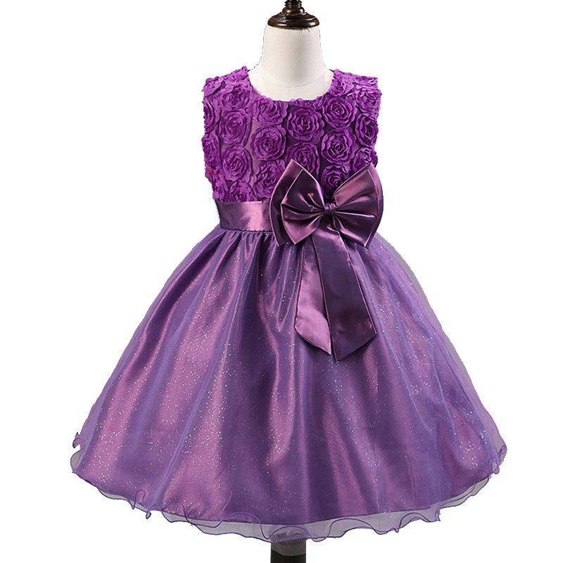 2016-rose-flowers-girls-dresses-for-wedding-party-birthday-girls-princess-dress-with-bow-sleeveless-child[1]