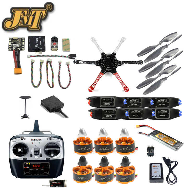 JMT F550 RC Quadcopter Unassemble Kits 2.4G 8CH DIY Drone FPV Upgrade with Radiolink Mini PIX M8N GPS Altitude Hold Model