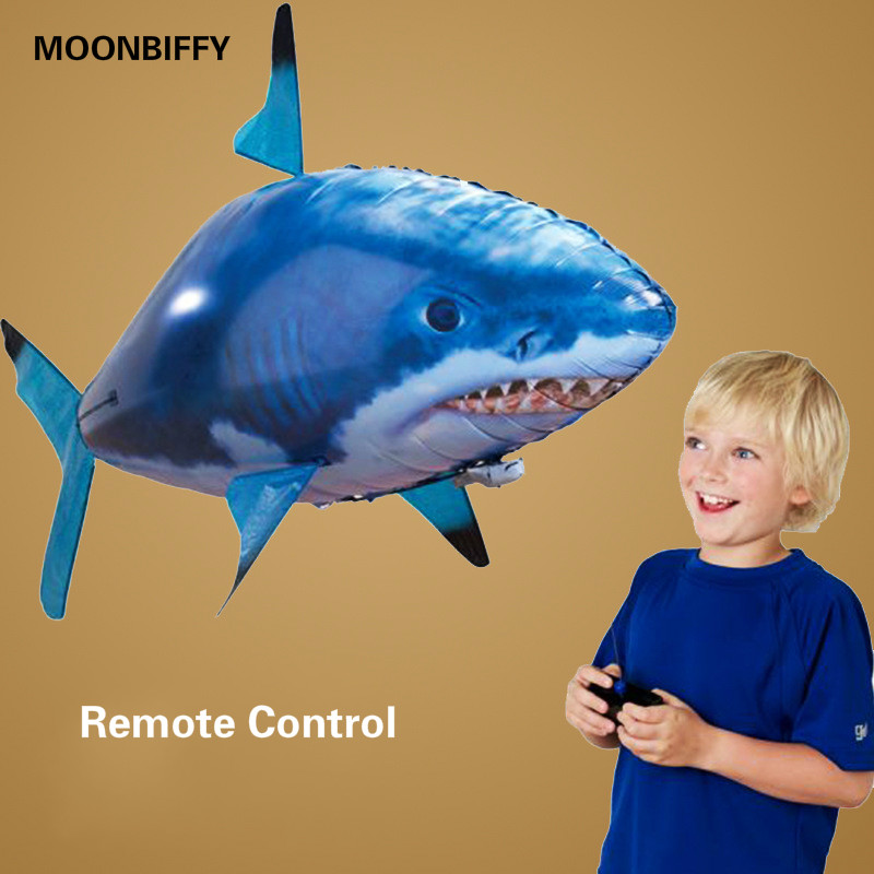 MOONBIFFY Inflatable Shark Toy air Balloon Children's