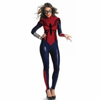 New Sexy Women's spider Costume Game cosplay Sexy superman Tight fitting uniforms temptation Queen Halloween Costumes