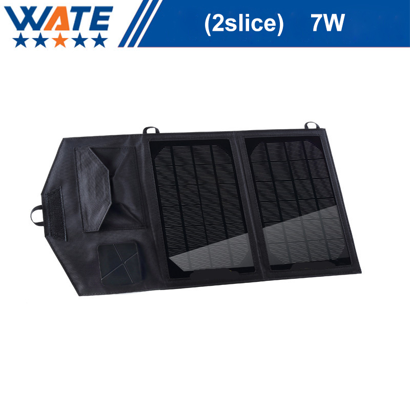 Folding solar charger, 7W single crystal silicon mobile phone, flat mobile power charge 7w folding solar panel charger for mobile phone camera more camouflage
